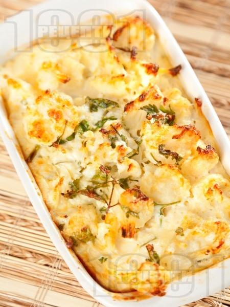 Запечен карфиол със сирене - снимка на рецептата